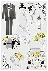 """3D Sticker""""Hochzeit II"""""""