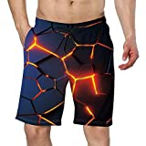 Mens Swim Trunks Cool Board Shorts Summer Quick-Dry Bathing Suit...