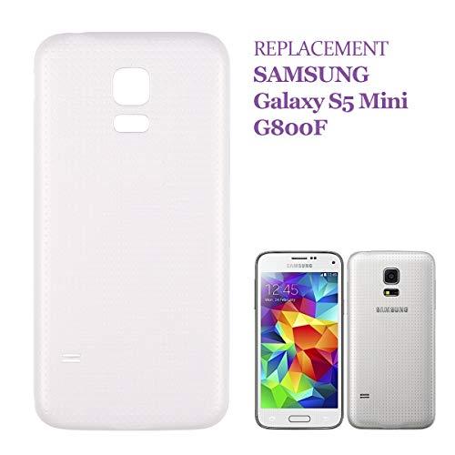 SWARK - Tapa de batería Compatible con Samsung Galaxy S5 Mini SM-G800F, Color Blanco