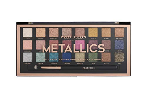 Profusion Cosmetics Professional Artistry Pro Eyeshadow Palette, Metallics