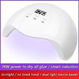 36W UV del clavo de la lámpara, LED clava la secadora de secado rápido de uñas UV LED secadora con 36 LEDs de doble fuente de luz, 3 Configuración del temporizador, manicura profesional que cura la lu