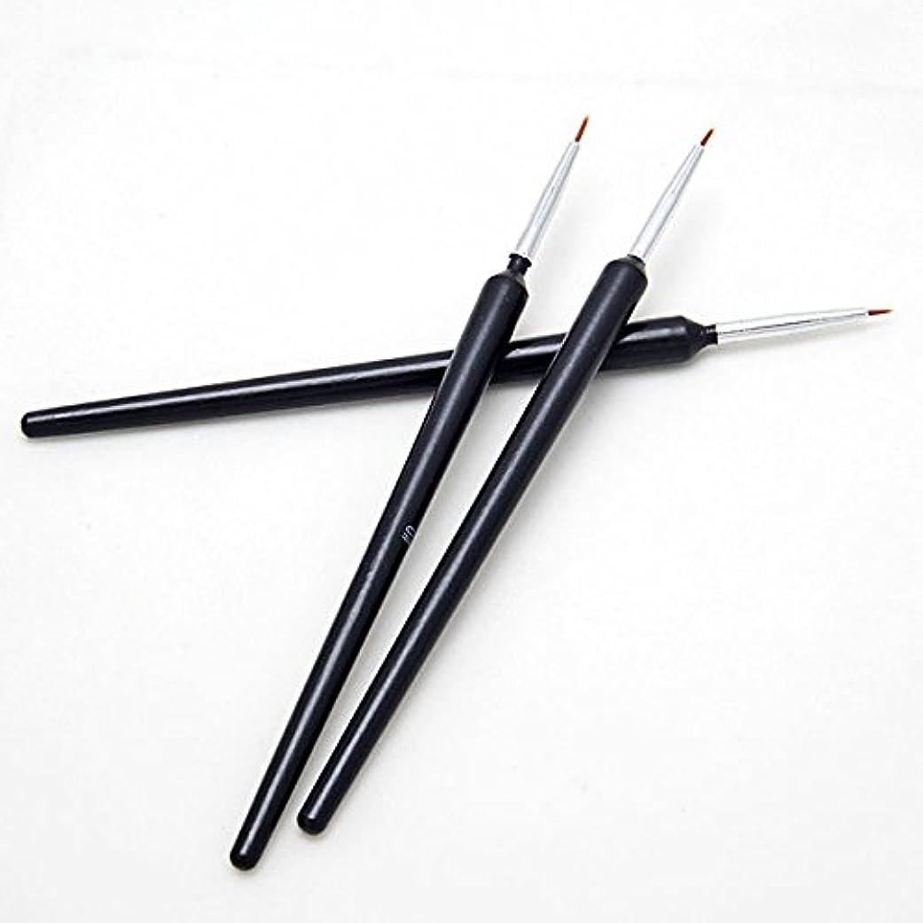 パイロットお気に入りアプライアンスGressu(TM)熱い販売3個ネイルアートのヒントツールポーランドペンのブラシの描画ストライプライナーDIYネイル打点