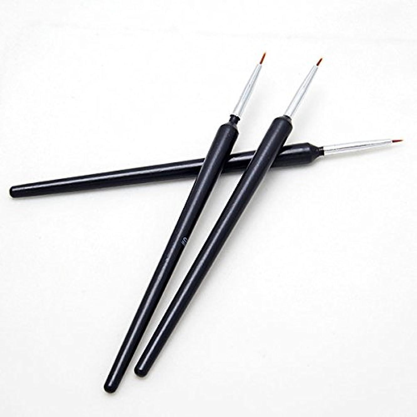 叫ぶ億苦しみGressu(TM)熱い販売3個ネイルアートのヒントツールポーランドペンのブラシの描画ストライプライナーDIYネイル打点