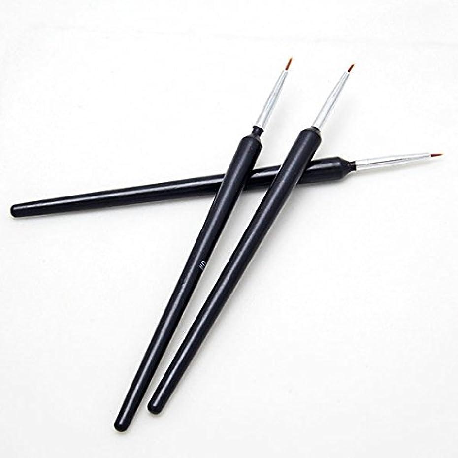 出会い外出下にGressu(TM)熱い販売3個ネイルアートのヒントツールポーランドペンのブラシの描画ストライプライナーDIYネイル打点