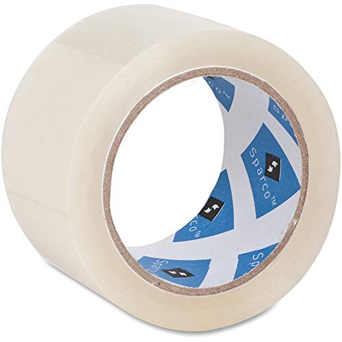 Price comparison product image Sparco 64010 Packaging Tape Roll,  3-Inch Core,  3.0 mil,  2-Inch x55 Yds,  CL
