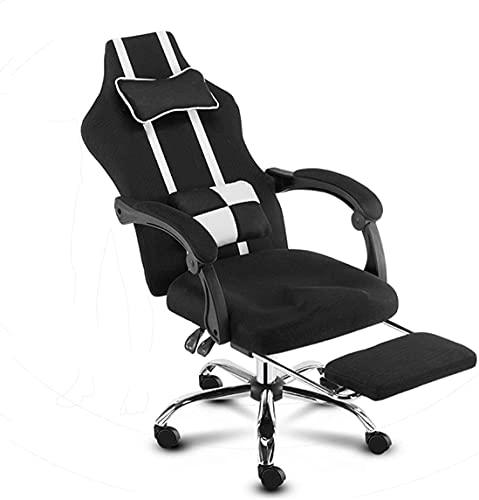 TAIDENG Silla de oficina para el hogar, silla de juegos, silla de escritorio, silla de oficina de carreras, apoyabrazos suave de espuma viscoelástica (color negro)