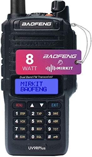 Mirkit - BAOFENG UV-9R MK1 8W Waterproof IP67 Funkgerät - VHF/UHF Walkie Talkie mit 2200 mAh Batterie, 128 Kanäle - Amateurfunk Handfunkgerät mit Hartschalenkoffer