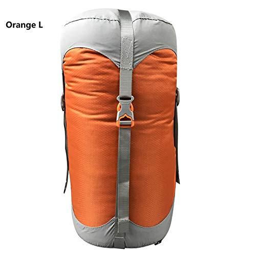 Générique Sac de Compression en Nylon pour Sacs de Couchage - 4 Couleurs - 4 Tailles - Couleur : Orange L