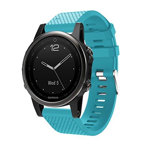 TOPsic Correa de Reloj para Garmin Fenix 5S, Banda de Reloj de Repuesto de Silicona Suave para Garmin Fenix 5S/Fenix 5S Plus/Fenix 6S/Fenix 6S Pro (NO Sirve Fenix 5 5X)