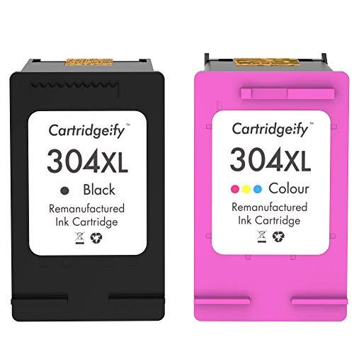 Cartridgeify 304XL Cartuccia compatibile con HP 304 o 304XL Cartucce d'inchiostro Multipack, per HP ENVY 5010 5020 5030 5032, DeskJet 2630 3720 3730 3733 3735 3750 3760 3762, AMP 130