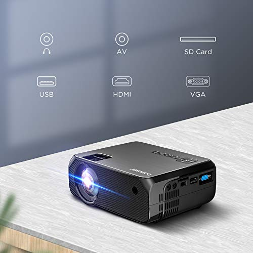 Proyector WiFi, 2020 Actualizado BOMAKER 5000 Lúmenes Resolución ...