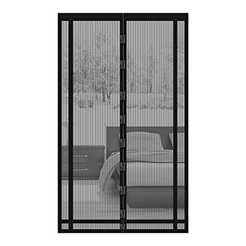 Sekey 230x160 cm Tendina magnetica per zanzariera, ideale per porte da balcone, cantine, terrazze (ritagliabile in altezza e larghezza), facile da montare, colore: Nero