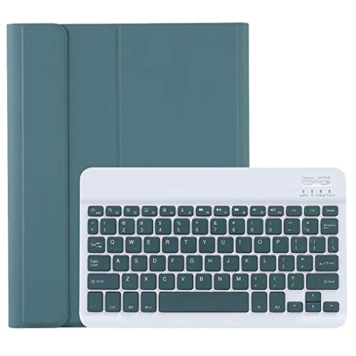 Ipad Pro 11 Inch 2020/2018 Keyboard Case, Detachable Wireless Bluetooth Keyboard with Pencil Holder, Magnetically Auto Sleep/Wake (Support Apple Pencil Charging),Deep Green