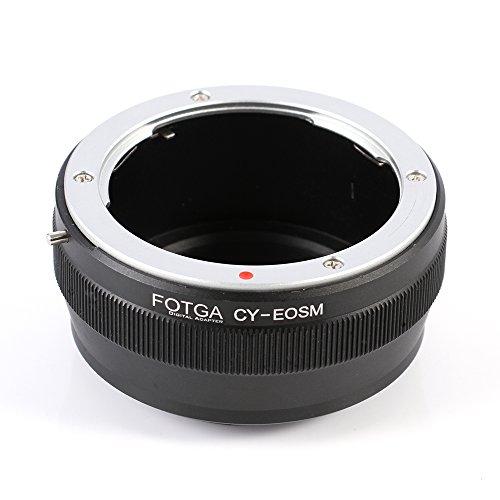FOTGA Adaptador para Contax Yashica C/Y Lente a Canon EOS M M1 M2 M3 M5 M6 M10 M50 M100 EF-M Anillo adaptador de cámara sin espejo