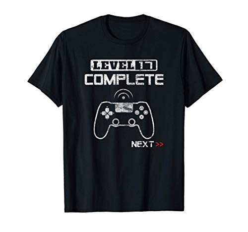 Level 17 Regalo 17 Cumpleaños 2003 17 Años Chico Chica Camiseta