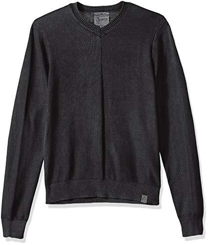Lucky Brand Men's Washed V Neck Sweater, Phantom, L