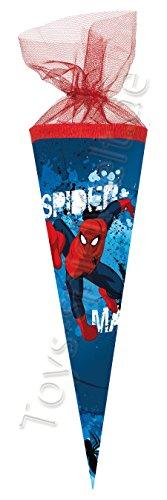 Nestler Schultüte Schulanfang Spiderman 2016 Kinder Zuckertüte Einschulung: Größe: 22 cm