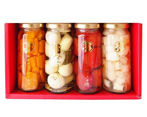 熊本みなみピクルス 4本セット うずらの卵ピクルス&かぼちゃのピクルス&大根梅柚子のピクルス&トマトのピクルス