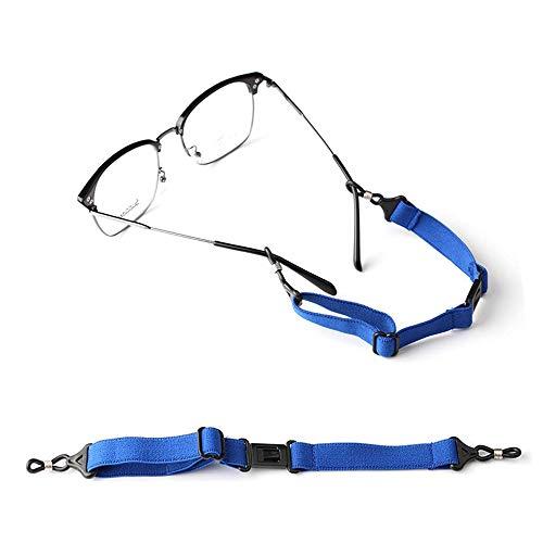 メガネ小物 眼鏡ストラップ メガネ ストラップ メガネやサングラスをつけて作業や運動をされる方に最適のスポーツメガネバンド スポーツバンド ずれないメガネバンド 男女兼用 (ブルー)