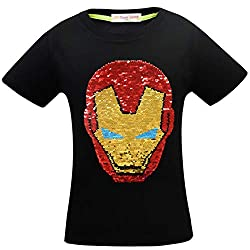 1sygh Superhero Flash Flip Sequin T-Shirt