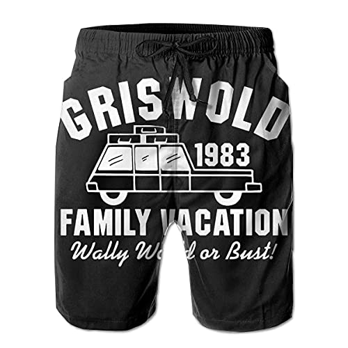 XCNGG Pantalones Cortos de Playa Best Griswold Family Vacation 80s Mens Swim Trunks Quick Dry Waterproof Beach Pants Beach Board Short with Pockets