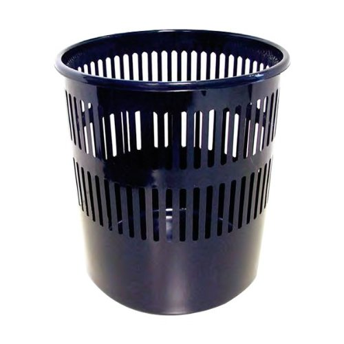 Q-Connect - Corbeille Papier Souple Ajourée Très Résistante Polystyrène 15 L Noir 920342