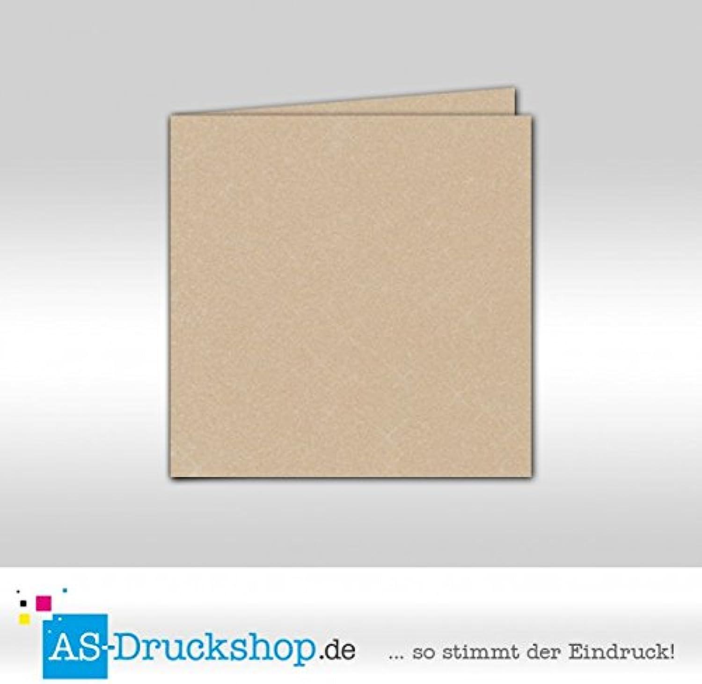 Faltkarte Doppelkarte - Taupe metallic 50 Stück Quadratisch 157 x 157 mm B0794XZHVB | Ausgezeichnet