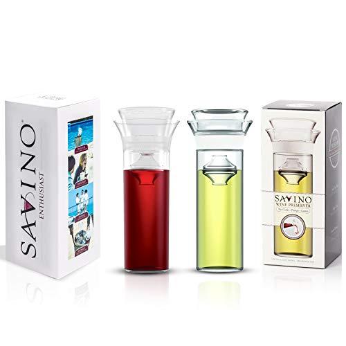 Savino Luxury Wine Saver Preserver Bundle Two Pack