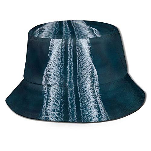 NCH UWDF Barco Sea Foam Traces Bucket Sombrero para el Sol para Hombres y Mujeres -Protección UV Camping Summer Hatflexible Durable