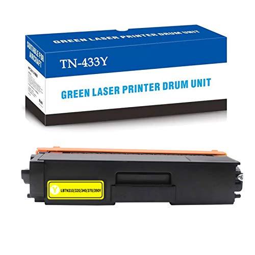 CUXU Adecuado para el reemplazo del Cartucho de tóner de Brother TN-433, para HL-L8260CDW / L8360CDW / L8360CDWT / L9310CDW, MFC-L8610CDW / L8900CDW, DCP-L8410CDN / L8410 Yellow