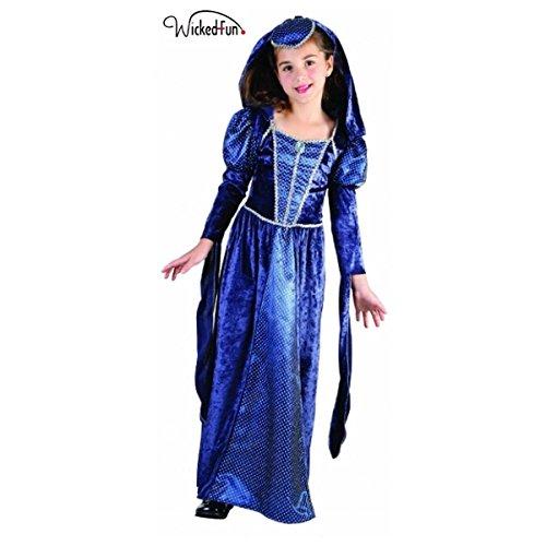 Wicked Fun Ladies Girls Camelot Renaissance Princess costume per bambini