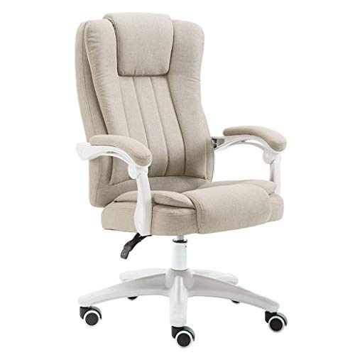 LYLY Bürostuhl Computer Stuhl Home Office Chair Hebe Reclining Drehstuhl Moderne einfache Studenten Faule Studie Freizeit-Stuhl Schreibtischstuhl (Color : Beige, Größe : No footrest)
