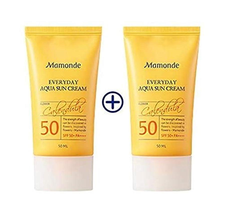 ゴール電気的見かけ上[1+1] MAMONDE Everyday Aqua Sun Cream (50ml),SPF50+PA++++ 韓国日焼け止め