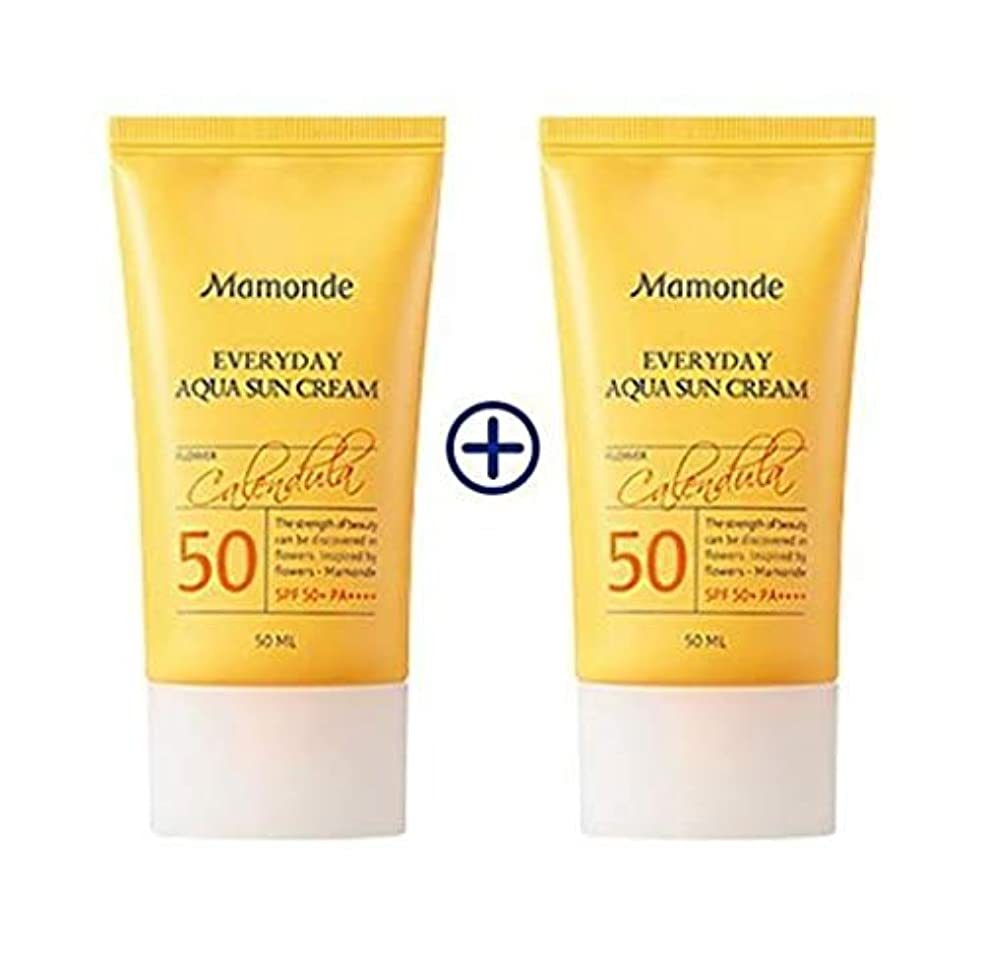 印象的機械的にパス[1+1] MAMONDE Everyday Aqua Sun Cream (50ml),SPF50+PA++++ 韓国日焼け止め