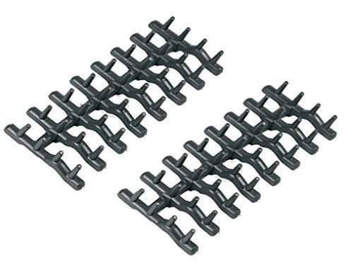 2 x DL-pro Oberkorbeinsatz für AEG Electrolux Ikea Faure Arthur Martin 138018410/9 1380184109 138018410 Gummidornen Dornen Noppen für Geschirrspüler Spülmaschine