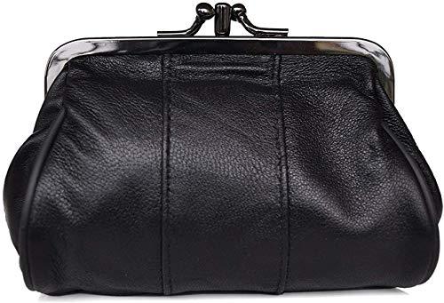 Bolso para Monedas - Mujer - Cierre Clic clac - 2 Compartimentos - Piel de Cordero - 11 x 10 x 5 cm