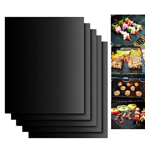 YONGCHY Grill Mat - 3-Er Set Heavy Duty BBQ Grill Matten - Non Stick Wiederverwendbare Leicht Zu Reinigen Barbecue Grill Zubehör