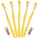 Cepillos de dientes desechables con pasta incorporada, envueltos individualmente, para viajes, 50 unidades