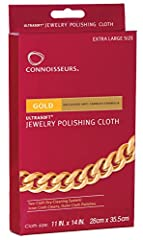"Extra large 11"" X 14"" Ultra-soft polishing cloth Two-cloth dry-cleaning system Perfect for all gold pieces"