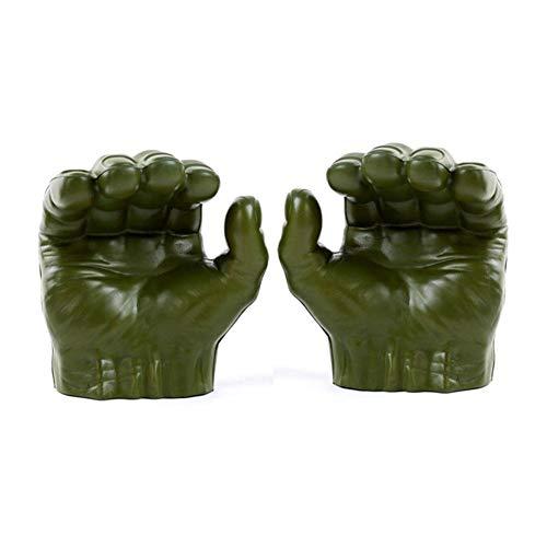 Cokeymove Vengadores Marvel Gamma Grip Hulk Puños Guantes para Cosplay Accesorio Fiesta