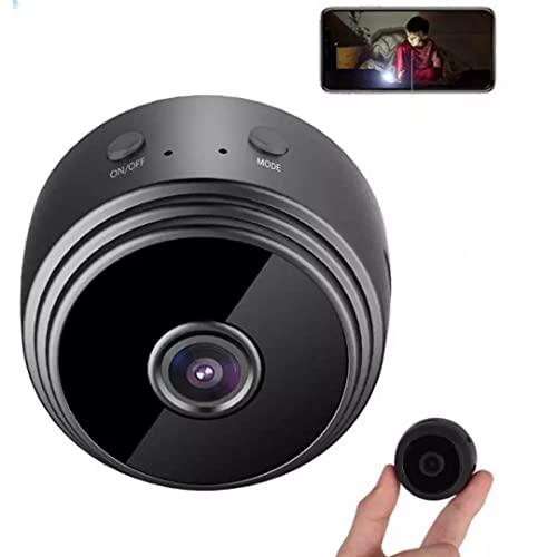Camara Espia Oculta 1080P HD WiFi Camara con Vision Nocturna,Camara de Seguridad pequeña para Interior/Exterior Negro