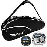 Tannius 3 Racket Tennis Bag (Black)