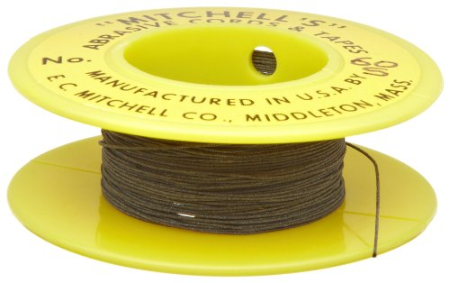 55S-25 Mitchell Inc Mitchell Abrasives 55-S Round Abrasive Cord Silicon Carbide 200 Grit .018 Diameter x 25 Feet Silicon Carbide 200 Grit .018 Diameter x 25 Feet E.C