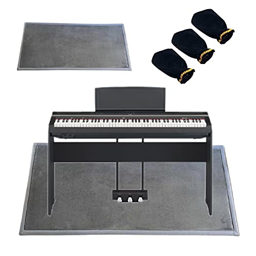 PPGE Home Insonorisation Piano, Moquette Acoustique, Sol Insonorisant, Anti-Choc/Anti Bruit/Isolante Acoustique/Isolant Phonique, Tapis pour Batterie Et Percussions, 3 Couvre-Pied De PeDaleA