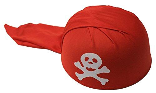 Rire Et Confetti - Fiepir049 - Accessoire pour Déguisement - Bandana Pirate - Rouge