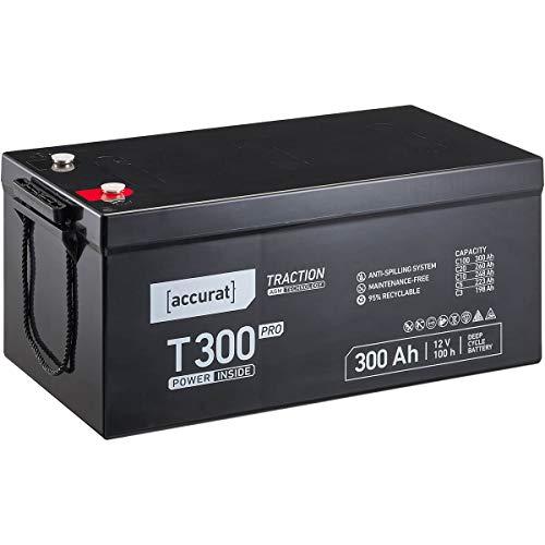 Accurat 12V 300Ah Blei-Akku AGM Blei-Batterie Zyklenfest Traction Pro-Serie VRLA Versorgungsbatterie T300 Pro (wartungsfrei)