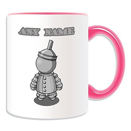 Regalo personalizado–taza Hombre de Hojalata (cuento de hadas diseño tema, colores)–cualquier nombre/mensaje en su único–el maravilloso mago de Oz Metal, cerámica, Rosa