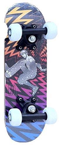 Street Kidz Multicoloured Skater Deck 16.5' Double Kick Mini Skateboard