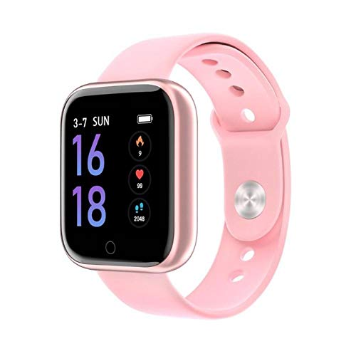 Generies Reloj Inteligente para el   Nuevo Reloj Inteligente Mujeres Hombres Deportes Impermeable Smartwatch Fitness Tracker Podómetro Pulsera para Apple iPhone Teléfono Xiaomi SilicaGelPink