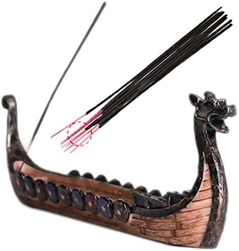 Spie Dragon Boat Incense Burner Resin Burner of Ancient Style Incense Holders for Sticks